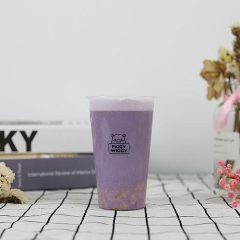 贪吃猪奶茶-紫薯奶茶
