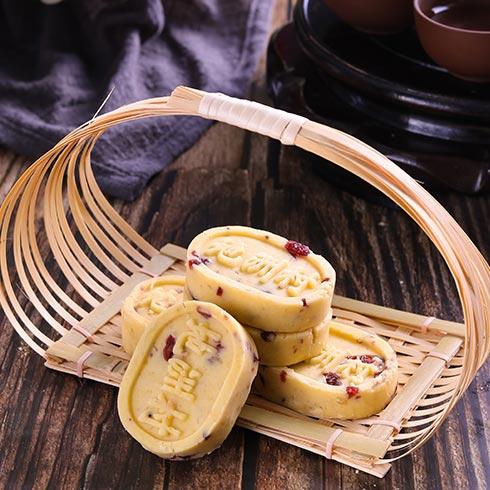 地洲村老婆饼-蔓越莓绿豆糕