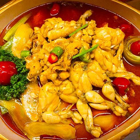 稻禾香品5秒吃鱼-酸辣牛蛙锅