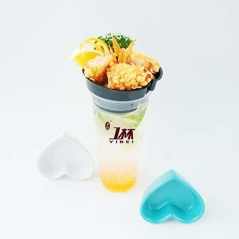 一杯牛排杯-玉米虾排杯