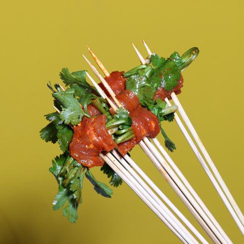 无签道牛肉串串香-香菜牛肉