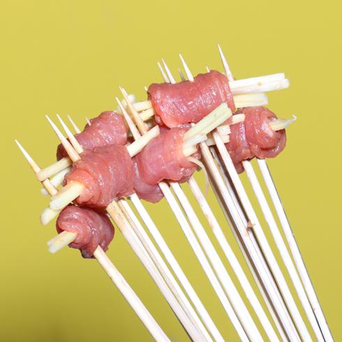 无签道牛肉串串香-仔姜牛肉串