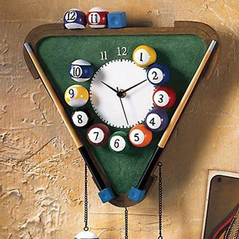 稀奇古怪魔术道具-台球桌球挂钟