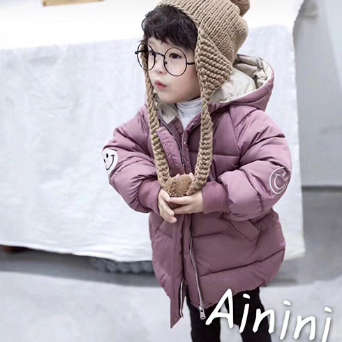 艾尼尼童装-加绒加厚棉袄