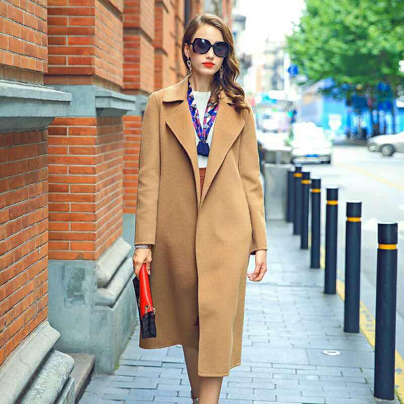yosum女装-长款西装领大衣