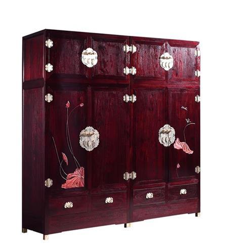 榮燊堂红木家具-雕花大衣柜