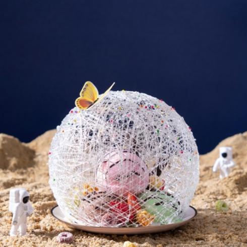 看星星的熊-草莓水晶球冰淇淋
