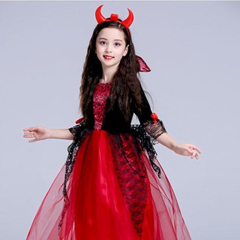 淘淘博士童装-红色魔女裙