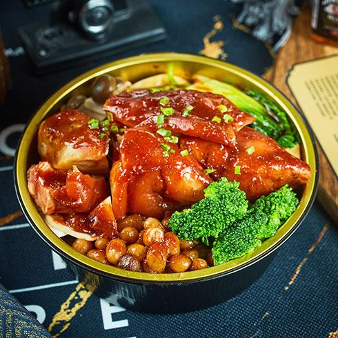 拾煲街烩烧饭-秘制猪蹄饭