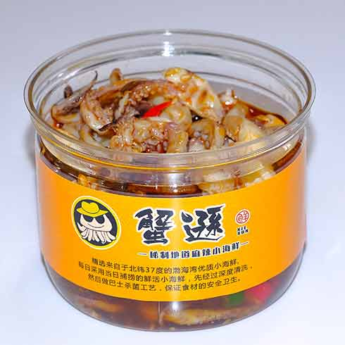 蟹逊捞汁小海鲜-鱿鱼须