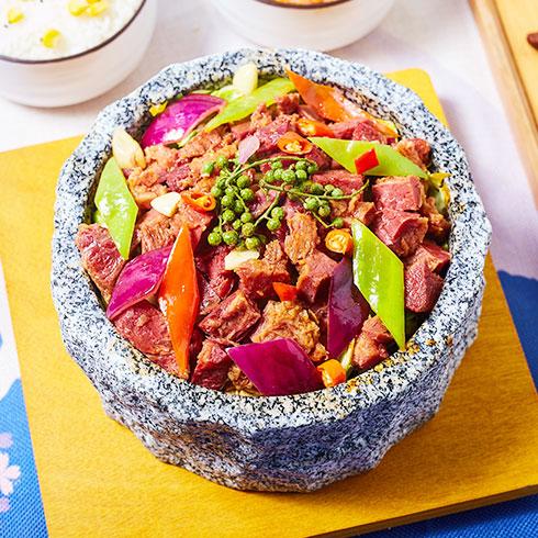 石锅牛肉饭