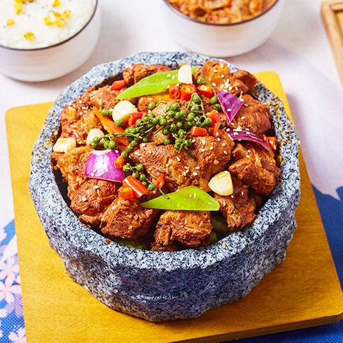 石锅排骨饭