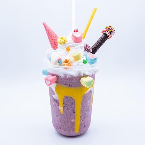 看星星的熊冰淇淋-紫薯冰淇淋杯