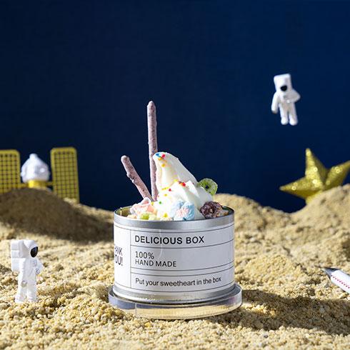 看星星的熊冰淇淋-太空冰淇淋杯