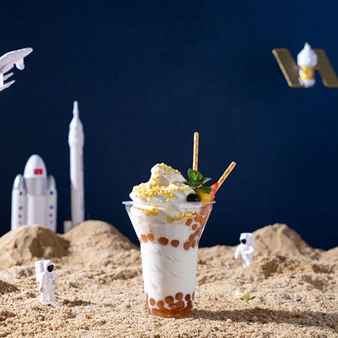 看星星的熊冰淇淋-鲜奶冰淇淋杯