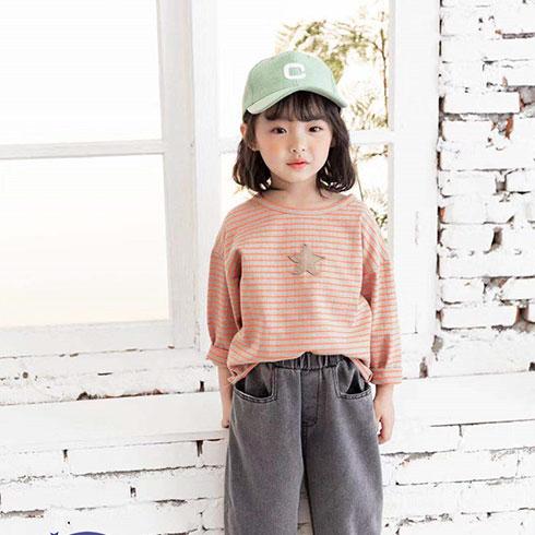 快乐精灵童装-粉红polo衫