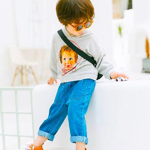 小黄麦童装-软牛仔背带裤