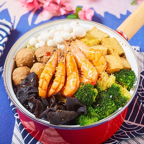 舟栈焖锅饭-香辣大虾焖锅饭