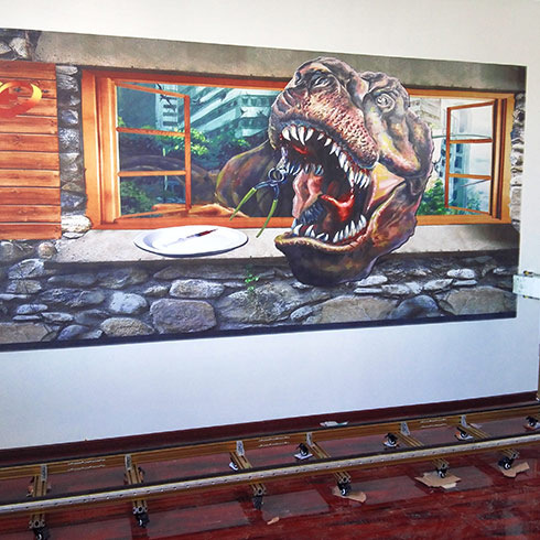 中科美创3D美墙机-3D恐龙