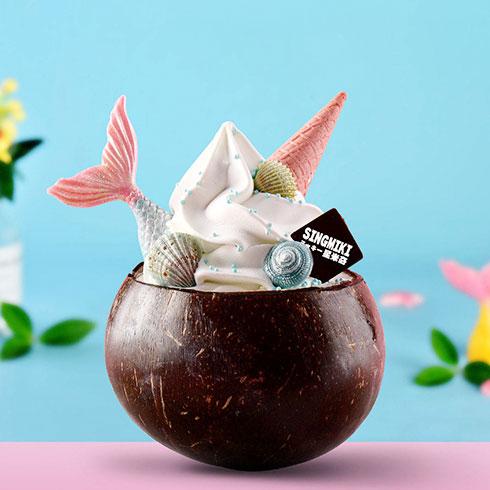 星米奇冰淇淋-椰壳冰淇淋