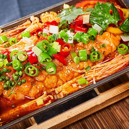 渔巴客烤鱼饭-香辣烤鱼