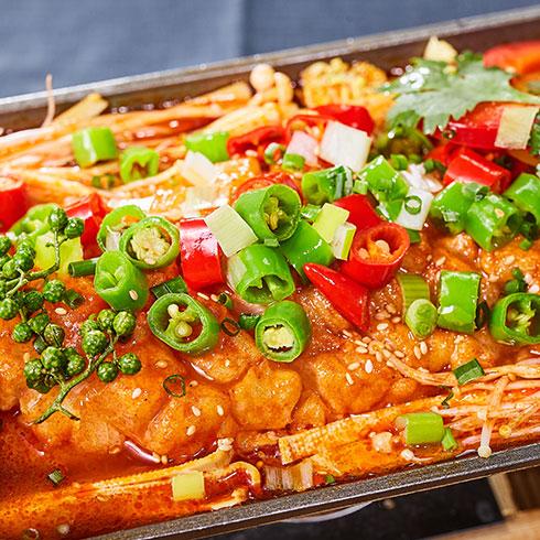 渔巴客烤鱼饭-麻辣烤鱼