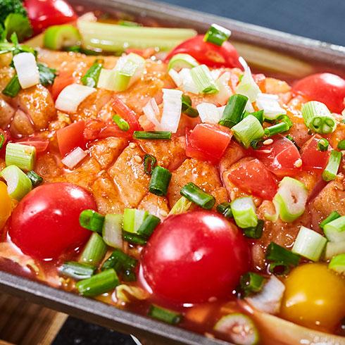 渔巴客烤鱼饭-番茄烤鱼
