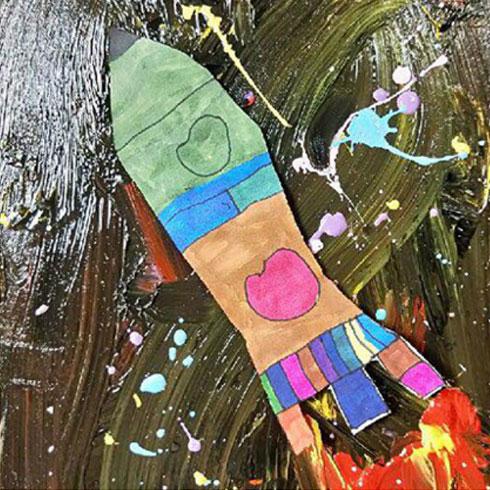 熊猫叔叔儿童美术-抽象作画