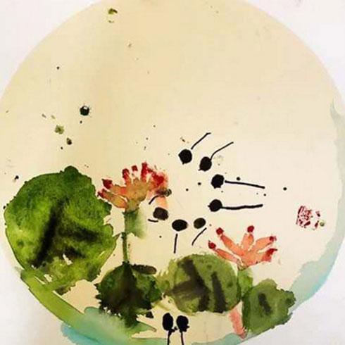 熊猫叔叔儿童美术-水墨画