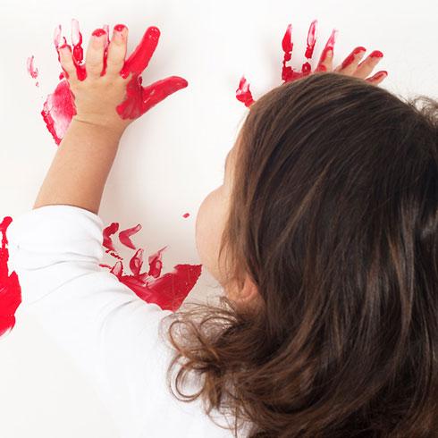 熊猫叔叔儿童美术-手掌画