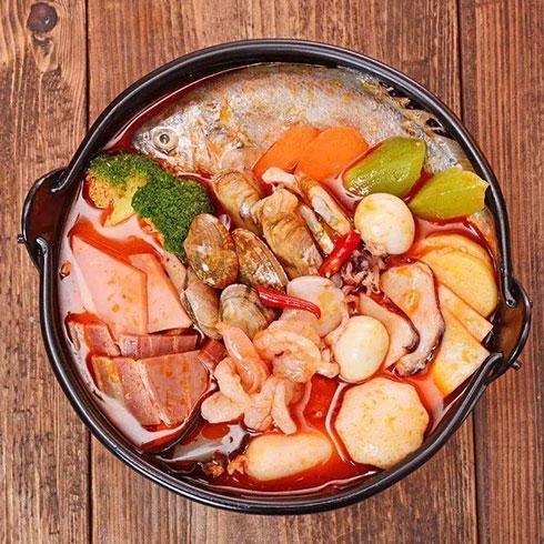 冒三元-海鲜汇红汤冒菜