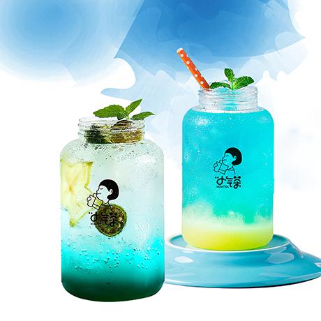 小气茶茶饮-蓝色妖姬