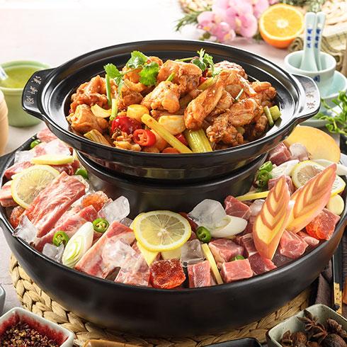 汉轩阁冰煮三鲜火锅-尖椒鸡