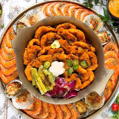 雅坐涮烤锅王-油炸大虾