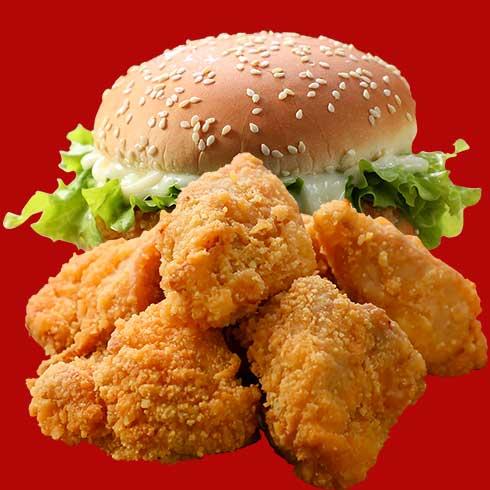 慕百味-炸鸡块&汉堡