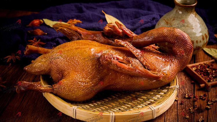 一只鸭脑壳-卤全鸭