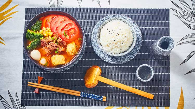 就汤下饭-番茄牛肉汤饭