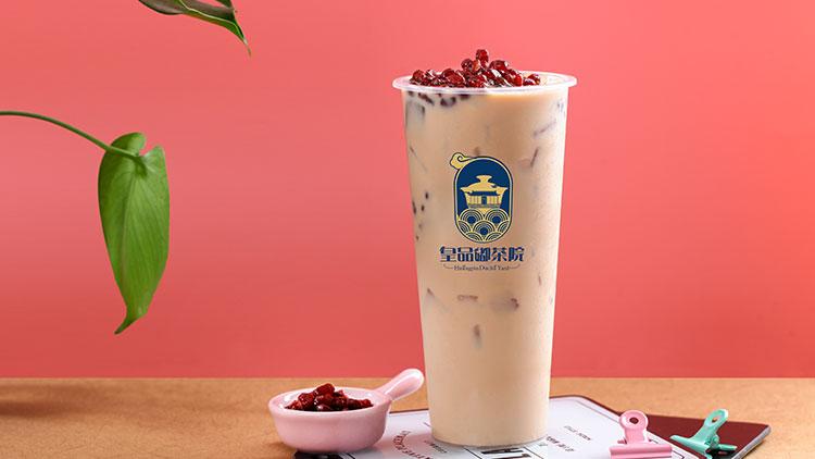 皇品嘟茶院-红豆奶茶绿