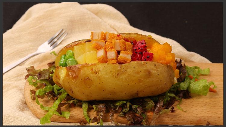 悠悠食光七彩土豆堡