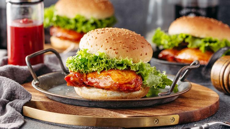贝克汉堡-烤鸡腿堡
