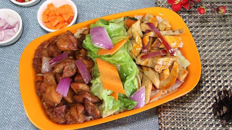 小饭桶-鱿鱼鸡肉双拼