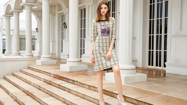 金蝶茜妮女装-时尚格子裙
