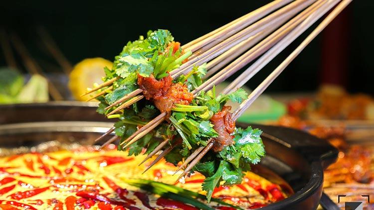 蜀川遇小串-香菜牛肉