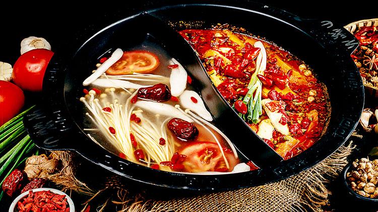 辣奇鲜菜老火锅-鸳鸯锅