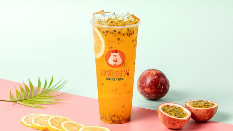 冰雪时光-百香果奶茶