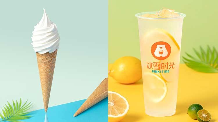 冰雪时光-冰淇淋和茶