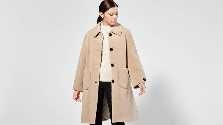 BLSS布伦圣丝-浅棕色风衣