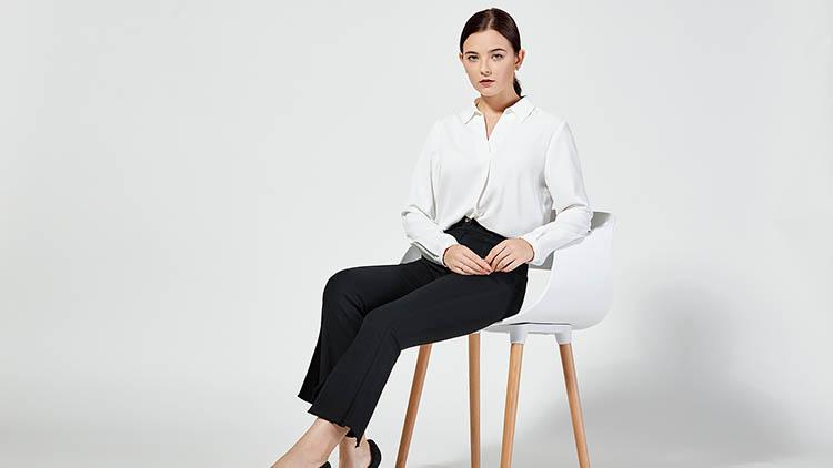 BLSS布伦圣丝-白衫黑裤商务套装