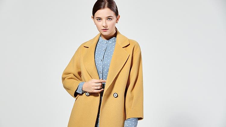 BLSS布伦圣丝-米色立领装