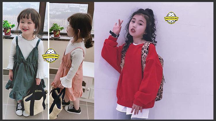 小黄麦童装-新款红色套装